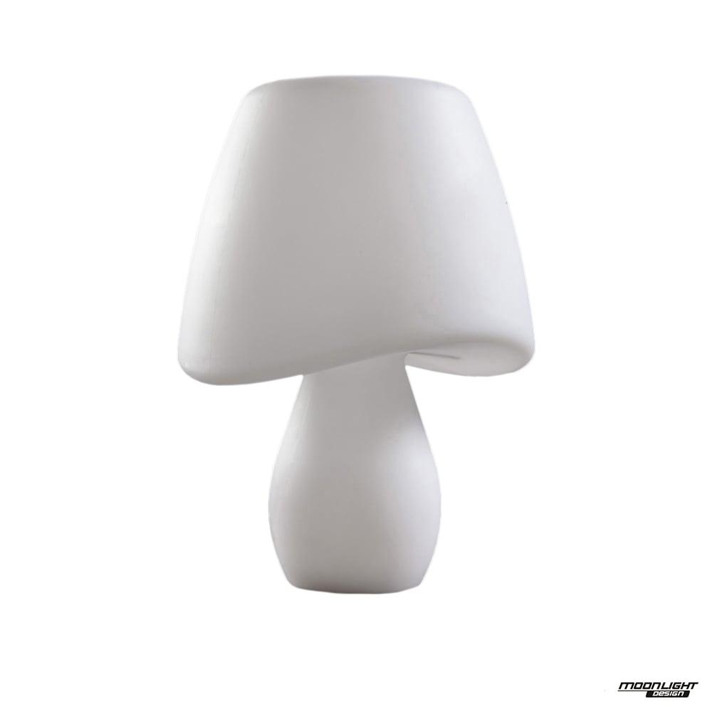 Cool 2 Light Table Lamp Outdoor White Ip65 Moonlight Design