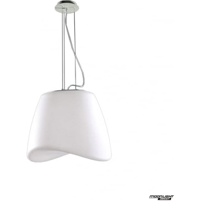 Mantra Cool 3 Light Round Pendant Indoor/Outdoor in Chrome/White IP44