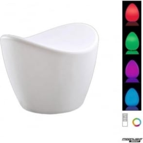 Cool Stool Rechargeable LED RGB Indoor/Outdoor White IP65