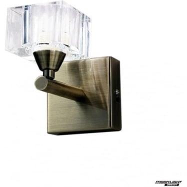 Cuadrax Single Light Wall Fitting Antique Brass