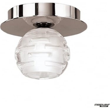 Dali Single Light Flush Ceiling Fitting Polished Chrome