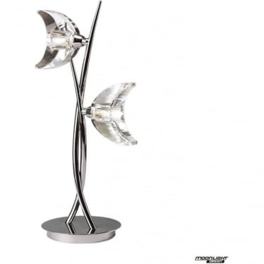 Eclipse 2 Light Table Lamp Polished Chrome