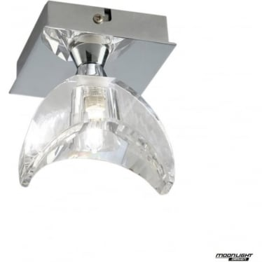 Eclipse Single Light Flush Ceiling Fitting Polished Chrome