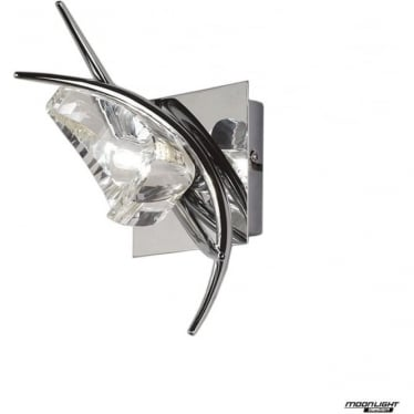 Eclipse Single Light Switched Wall Fitting Polished Chrome