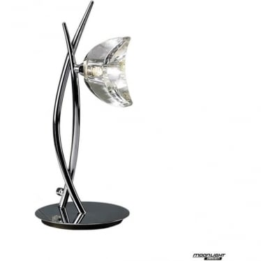 Eclipse Single Light Tall Table Lamp Polished Chrome