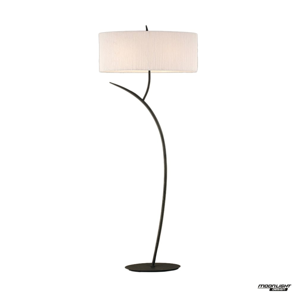 Mantra mantra eve 2 light floor lamp in anthracite with white oval eve 2 light floor lamp in anthracite with white oval shade aloadofball Image collections