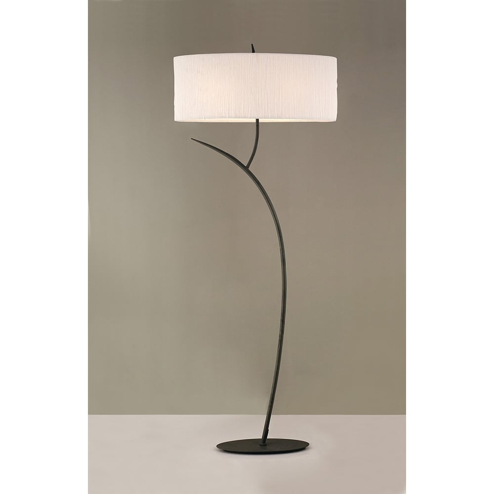 Mantra mantra eve 2 light floor lamp in anthracite with white oval eve 2 light floor lamp in anthracite with white oval shade aloadofball Images
