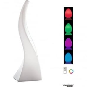 Flame Table Lamp Large Induction LED RGB Outdoor White IP65