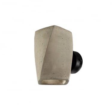 Ghery 2 Light Wall Lamp Cement/Black