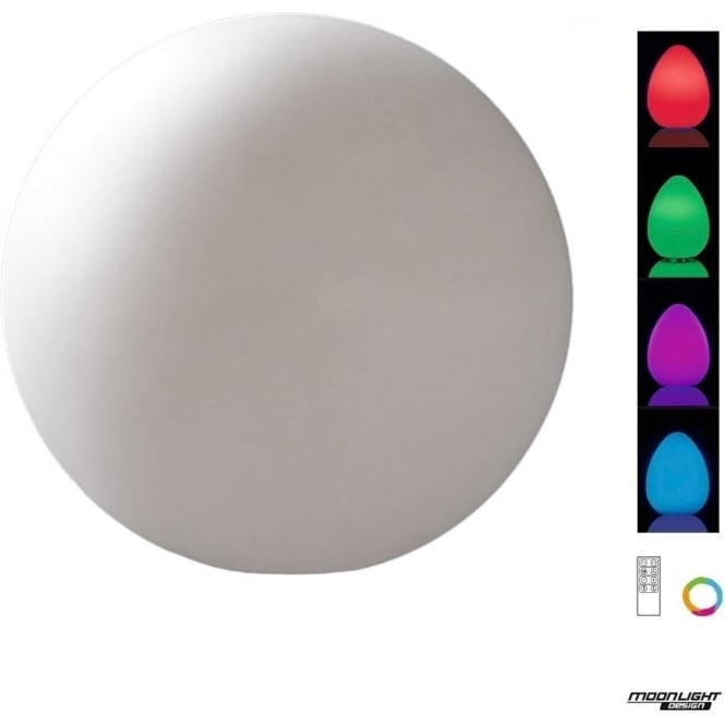 Mantra Huevo LED RGB Large Ball Table Lamp Rechargeable Outdoor White IP65