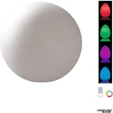 Huevo LED RGB Medium Ball Table Lamp Rechargeable Outdoor White IP65