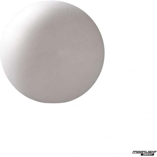 Mantra Huevo Single Light Small Ball Table Lamp Outdoor White IP65