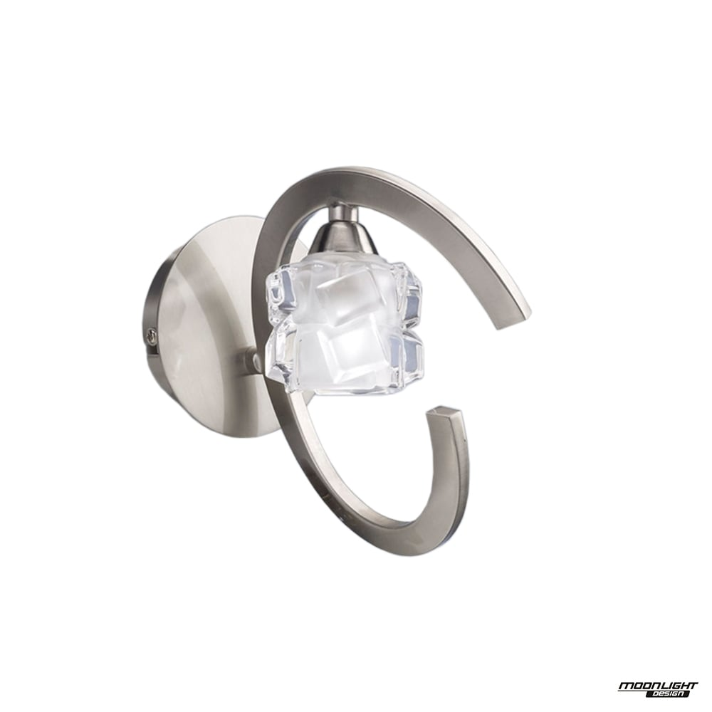 Mantra mantra ice single light switched wall lamp satin nickel ice single light switched wall lamp satin nickel aloadofball Image collections