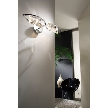 Kromo 2 Light Wall Fitting Switched - Polished Chrome