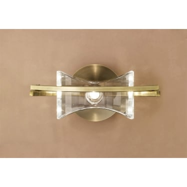 Kromo Single Light Wall Fitting Switched - Antique Brass