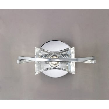 Kromo Single Light Wall Fitting Switched - Polished Chrome