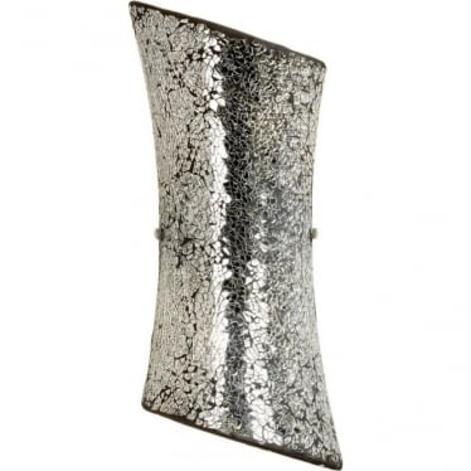 Marconi 2 light wall fitting -Mosaic Mirror Glass & Satin Nickel Finish