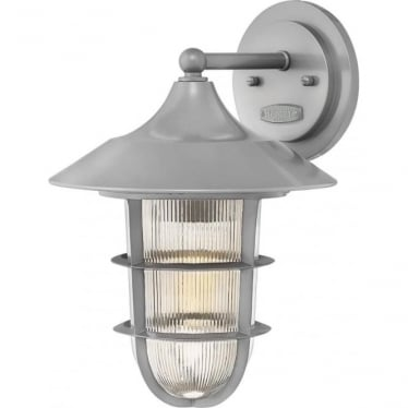 Marina Medium Wall Lantern Hematite