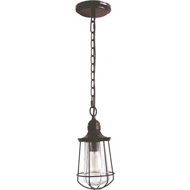 Quoizel Marine small chain lantern - Western Bronze