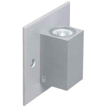 MC025 S MAINS up/down mini LED Cube wall light - Aluminium