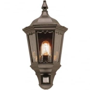 Medstead Half Lantern  with PIR - Black