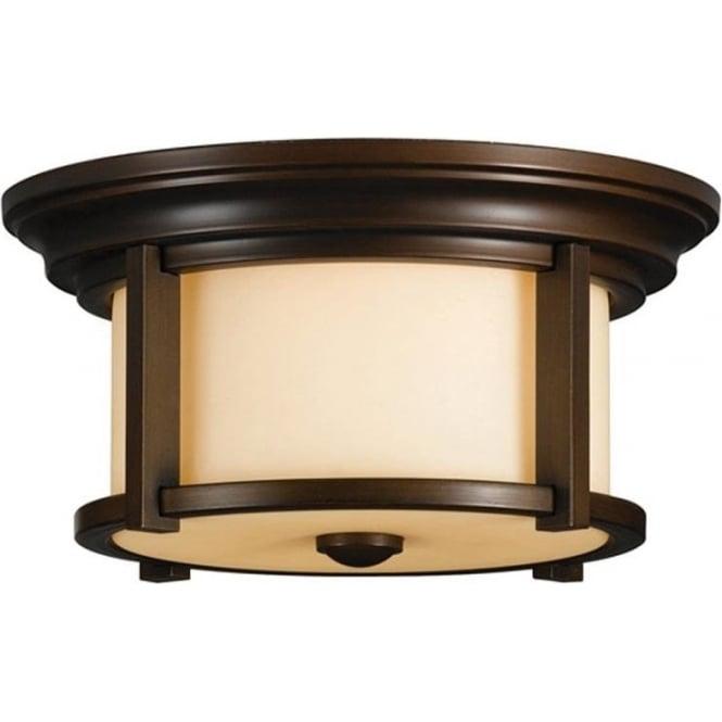 Feiss Merrill flush mount fitting - Bronze