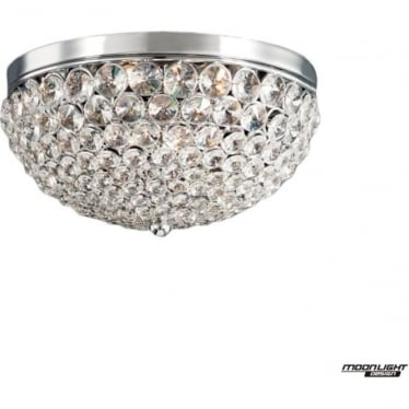 Milano Semi-Flush D25 Fitting Chrome Dimmable