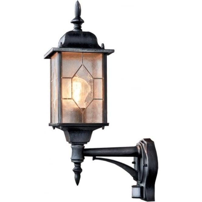 Konstsmide Garden Lighting Milano wall up lamp PIR - black 7268-759