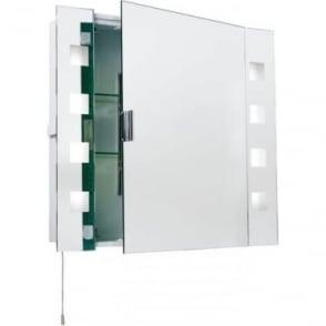Milos Shaver Cabinet Mirror - single shaver socket & pull cord