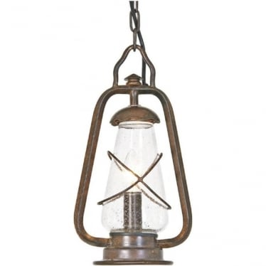 Miners Chain Lantern - Old Bronze