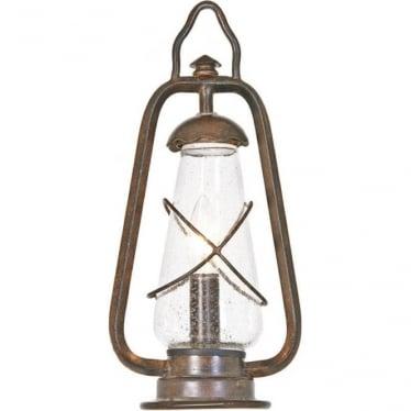 Miners Pedestal Lantern - Old Bronze