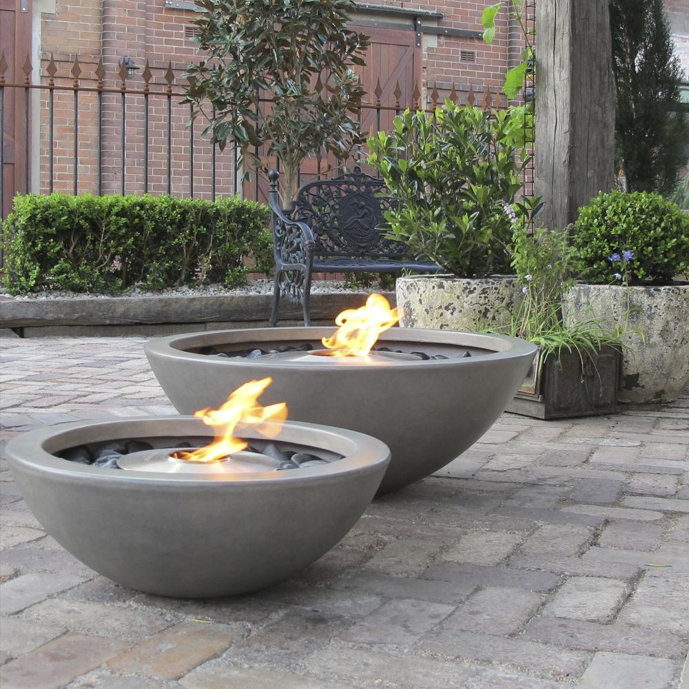 Ecosmart fire mix fire bowl outdoor fireplace ecosmart for Bio ethanol fire pit