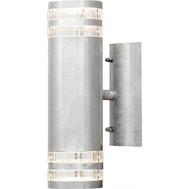 Konstsmide Garden Lighting Modena wall lamp double - galvanised 7516-320