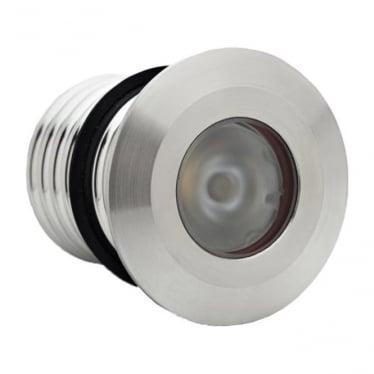 Modux 1 watt Round Recessed Stainless Steel