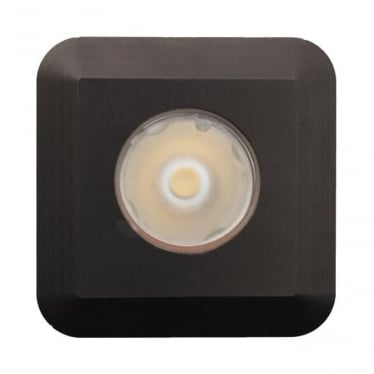 Modux 1 watt with Square Recessed Black