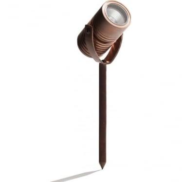 Modux 2 watt - Round with Spike - Copper