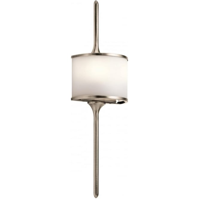 Kichler Mona 2 Light Bathroom LED Wall Light IP44 Classic Pewter