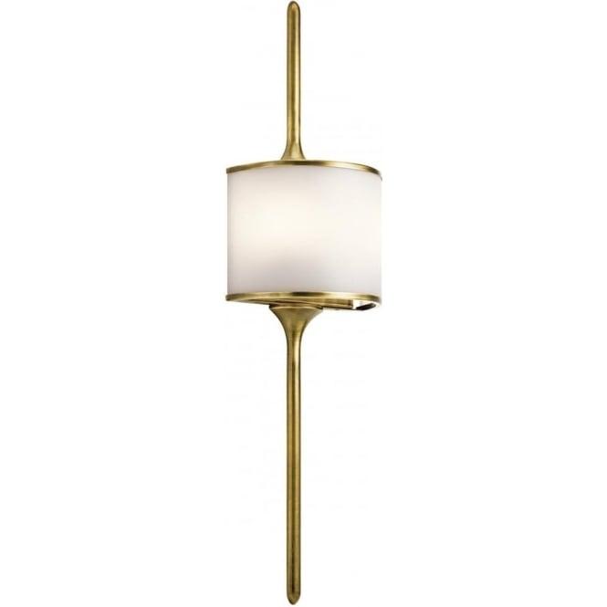 Kichler Mona 2 Light Bathroom LED Wall Light IP44 Natural Brass