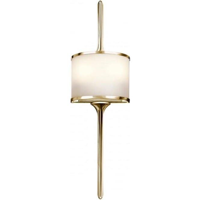 Kichler Mona 2 Light Bathroom LED Wall Light IP44 Polished Brass