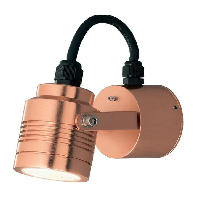 Konstsmide Garden Lighting Monza wall lamp adjustable LED - anodized copper 7903-900