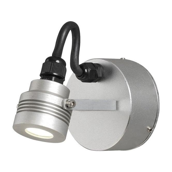 Konstsmide Garden Lighting Monza wall lamp high power LED - aluminium 7922-310