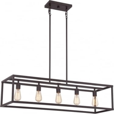 New Harbor Island Chandelier Western Bronze