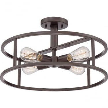 New Harbor Semi-Flush Fitting Western Bronze