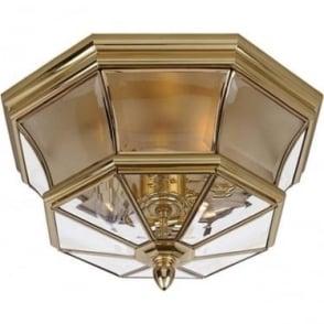Newbury Flush Mount fitting Polished Brass