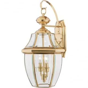 Newbury large wall lantern - Brass