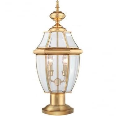 Newbury pedestal - Brass