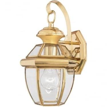 Newbury small wall lantern - Brass