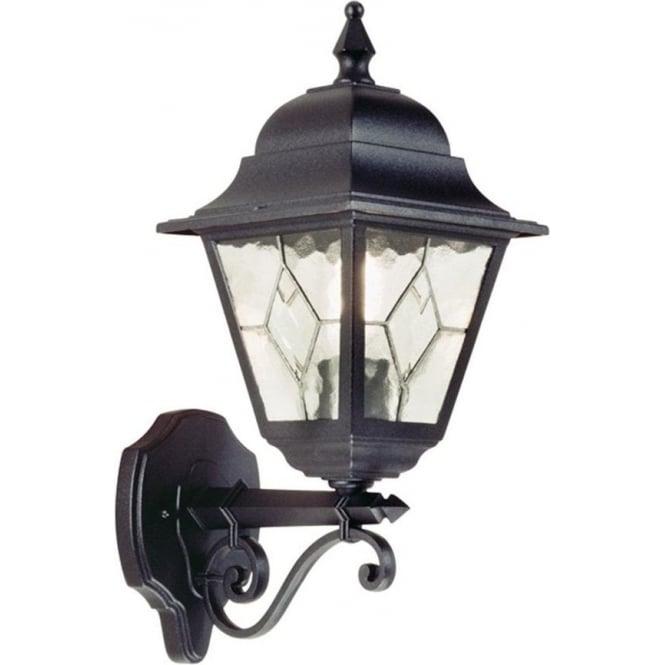 Elstead Lighting Norfolk Up Wall Lantern - Black