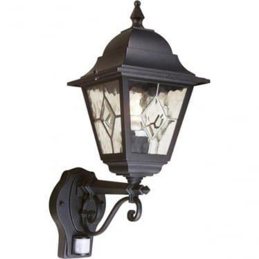 Norfolk Up Wall Lantern  with PIR - Black