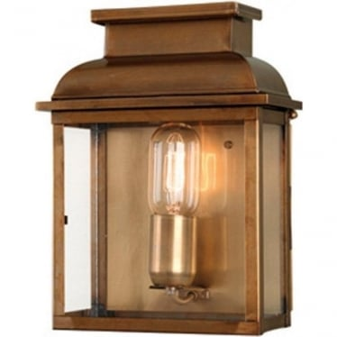 Old Bailey Wall Lantern - Brass